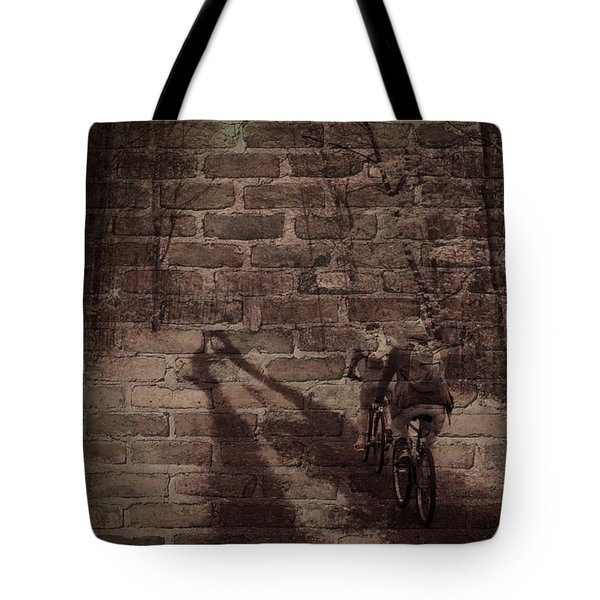 Hitting The Wall Tote Bag