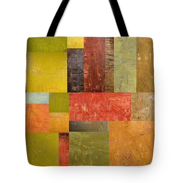 Thick Paint Abstract Ll Tote Bag by Michelle Calkins