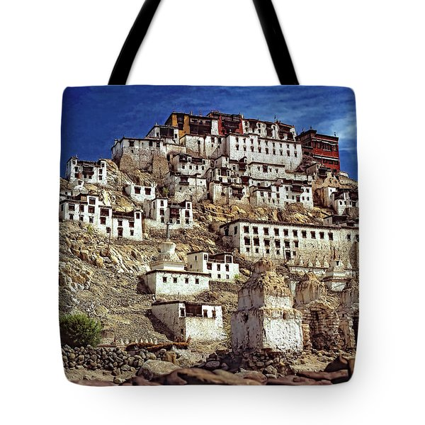 Thiksey Monastery Tote Bag by Steve Harrington