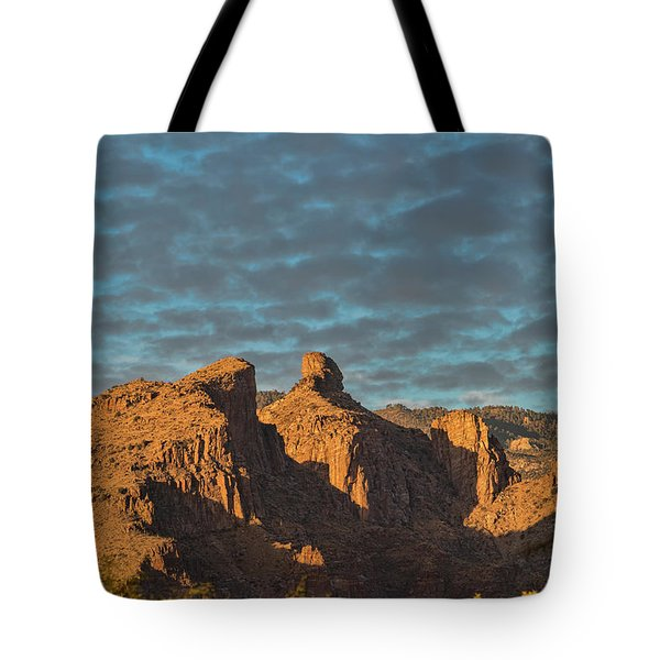 Tote Bag featuring the photograph Thimble Peak During Golden Hour by Dan McManus