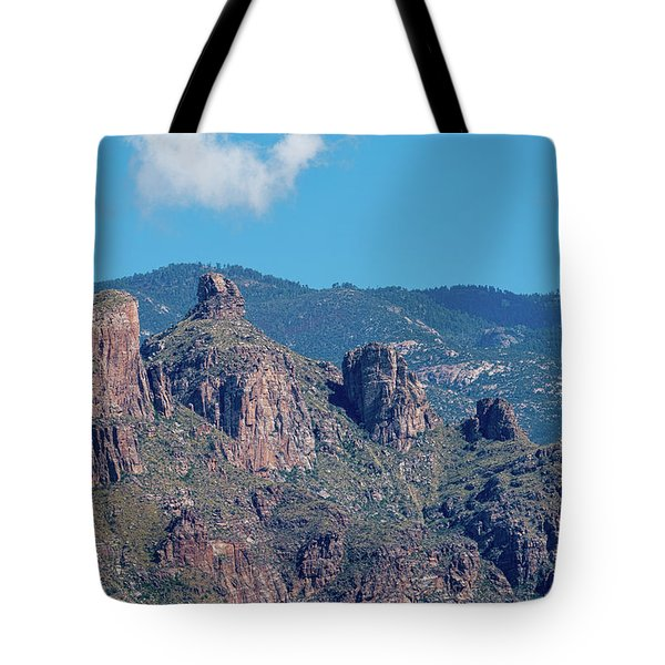 Tote Bag featuring the photograph Thimble Peak With Summer Greenery by Dan McManus