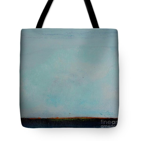 Tote Bag featuring the painting Thin Orange Line by Kim Nelson