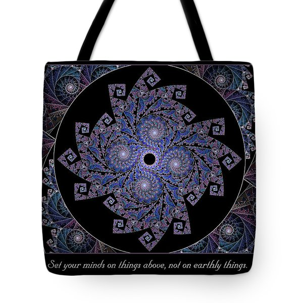 Tote Bag featuring the digital art Things Above  by Missy Gainer