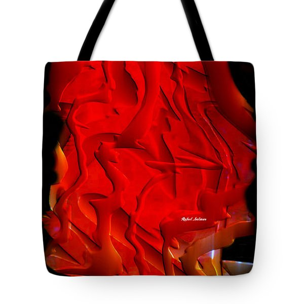 Tote Bag featuring the digital art Things Are Getting Hot by Rafael Salazar