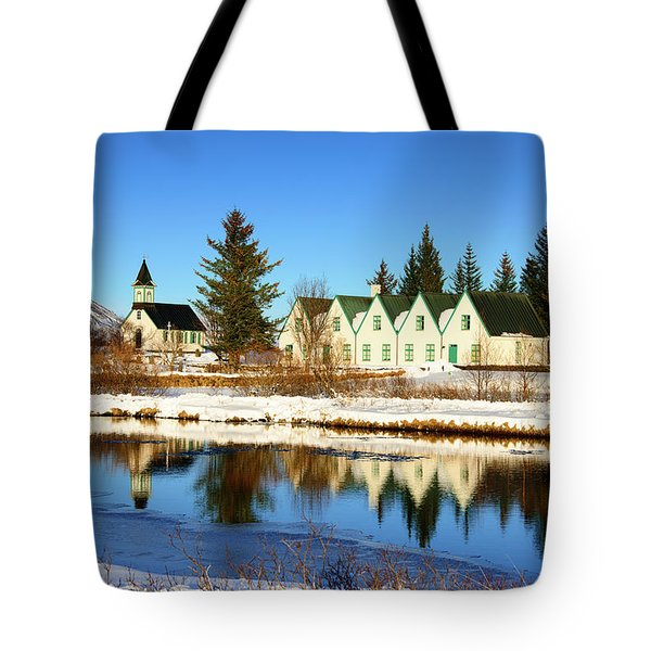 Tote Bag featuring the photograph Thingvellir Iceland  by Matthias Hauser