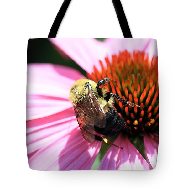 Tote Bag featuring the photograph Think Bees by Paula Guttilla