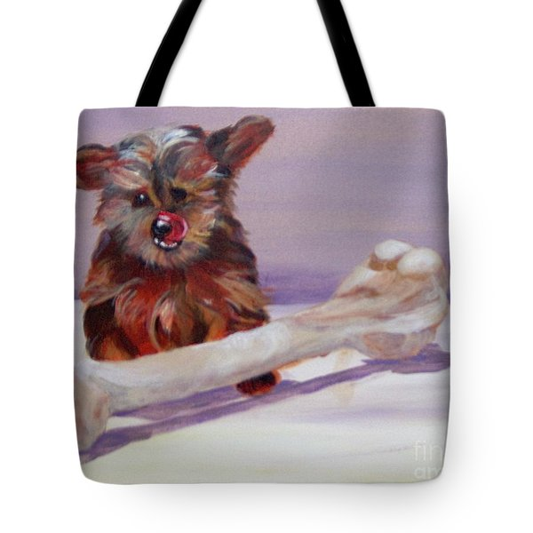 Tote Bag featuring the painting Think Big by Saundra Johnson