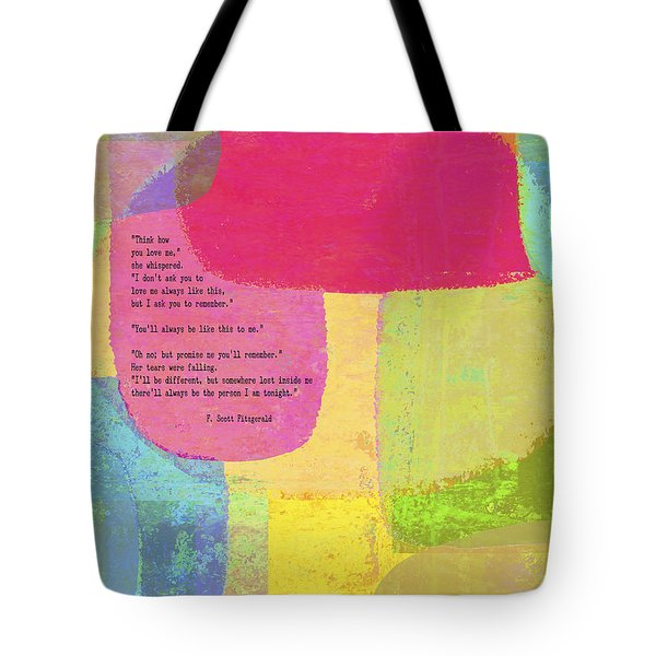 Think How You Love Me Tote Bag