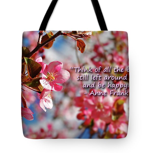 Think Of All The Beauty Tote Bag by Lincoln Rogers