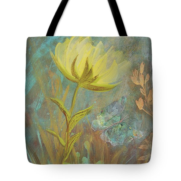 Tote Bag featuring the painting Think On Good Things by Robin Maria Pedrero