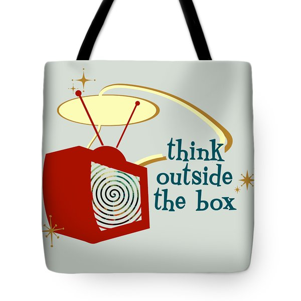 Think Outside The Box Tote Bag