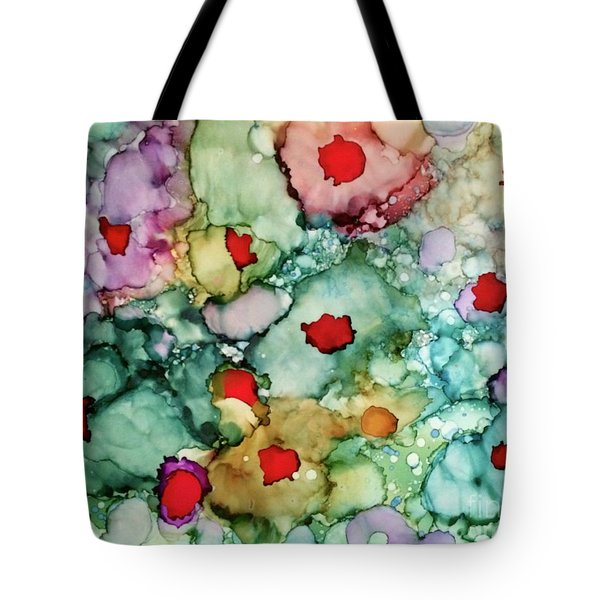 Tote Bag featuring the painting Think Spring by Denise Tomasura