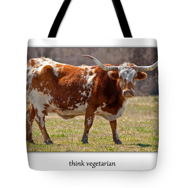 Think Vegetarian Tote Bag