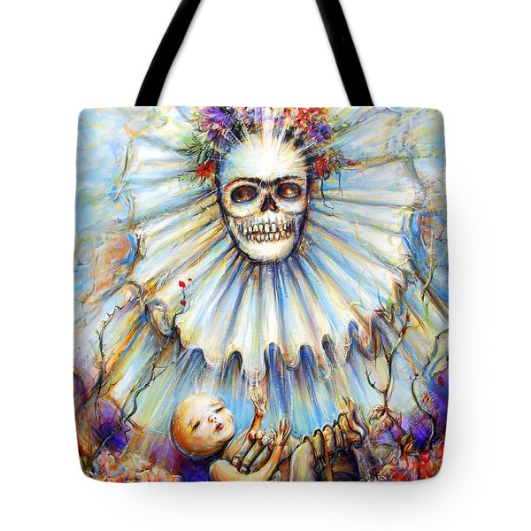 Tote Bag featuring the painting Thinking About Life by Heather Calderon