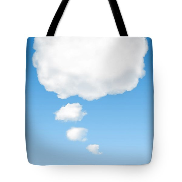 Thinking Cloud Tote Bag by Carlos Caetano