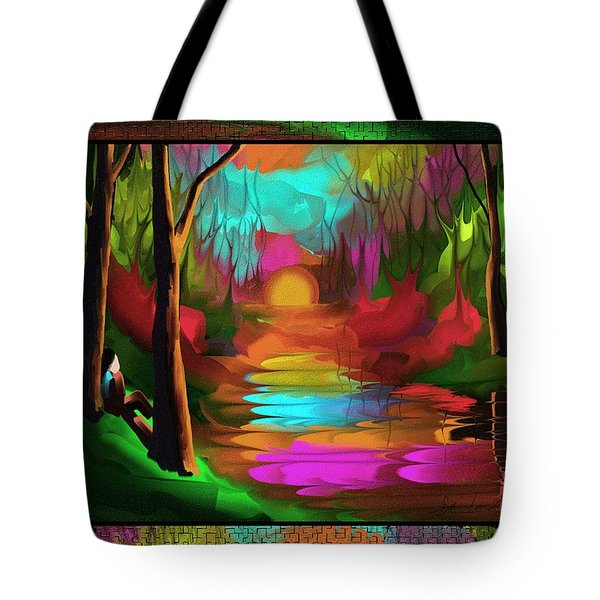 Tote Bag featuring the painting Thinking In Color by Steven Lebron Langston