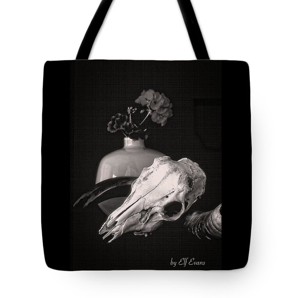 Thinking Of Georgia O'keeffe Tote Bag by Elf Evans