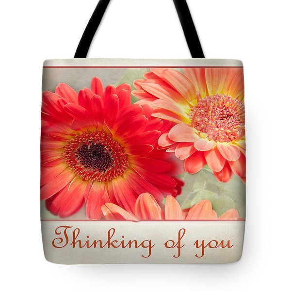 Thinking Of You Tote Bag by Geraldine Alexander