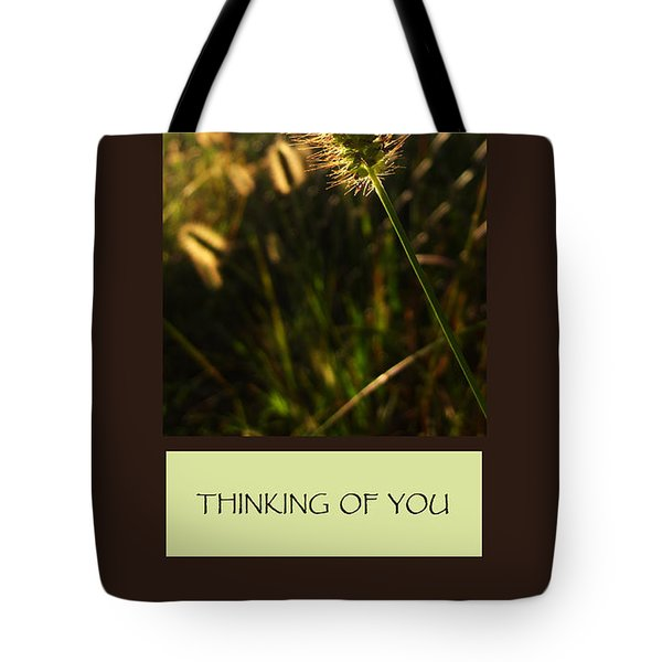 Thinking Of You Tote Bag by Mary Ellen Frazee