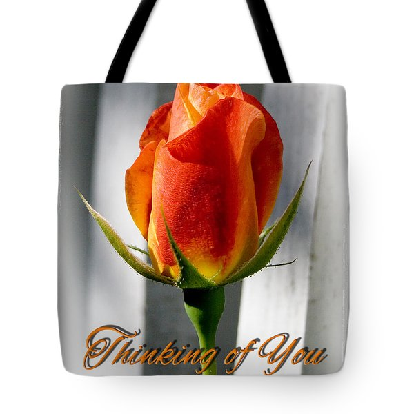 Thinking Of You, Rose Tote Bag
