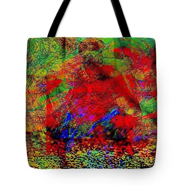Tote Bag featuring the digital art Thinking by Visual Artist Frank Bonilla