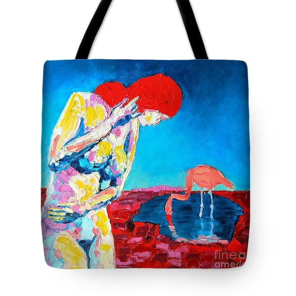 Tote Bag featuring the painting Thinking Woman by Ana Maria Edulescu