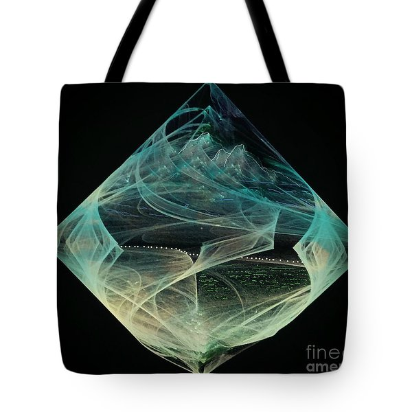Thinning Of The Veil Tote Bag by Diamante Lavendar
