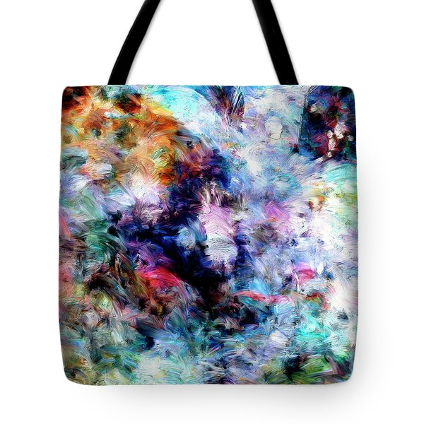 Tote Bag featuring the painting Third Bardo by Dominic Piperata
