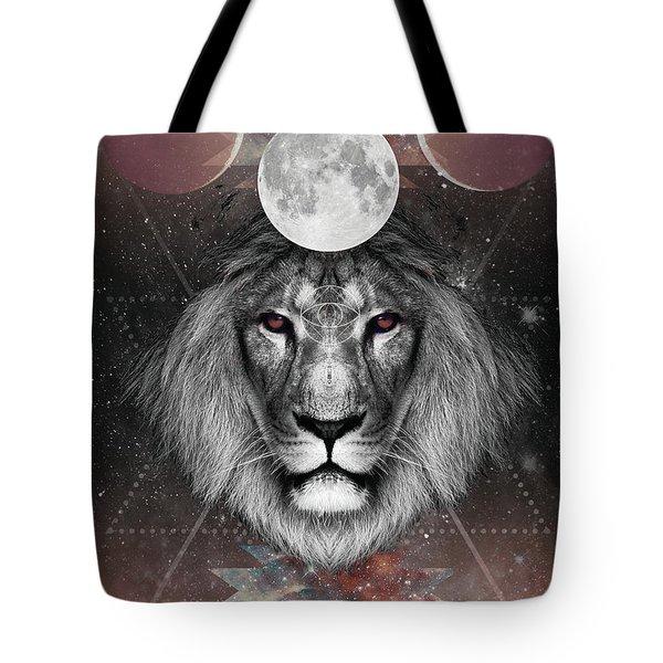 Third Eye Lion Vision Tote Bag by Lori Menna