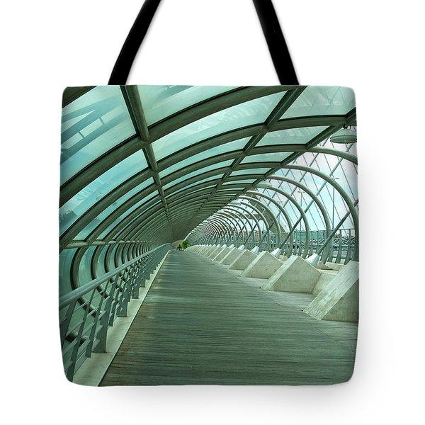 Third Millenium Bridge, Zaragoza, Spain Tote Bag