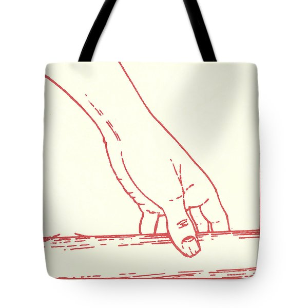 Tote Bag featuring the drawing Third Station- Jesus Falls The First Time by William Hart McNichols