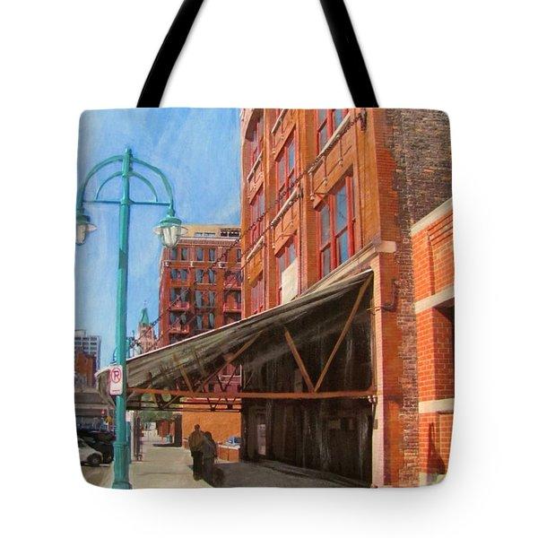 Third Ward - Broadway Awning Tote Bag by Anita Burgermeister