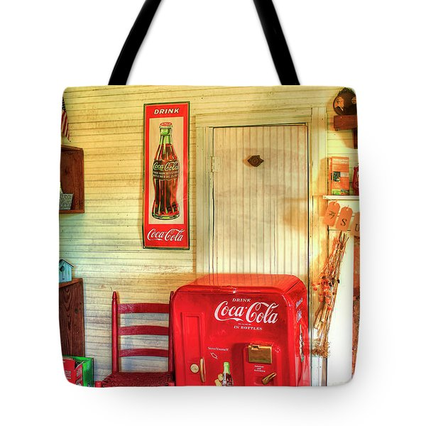 Thirst-quencher Old Coke Machine Tote Bag