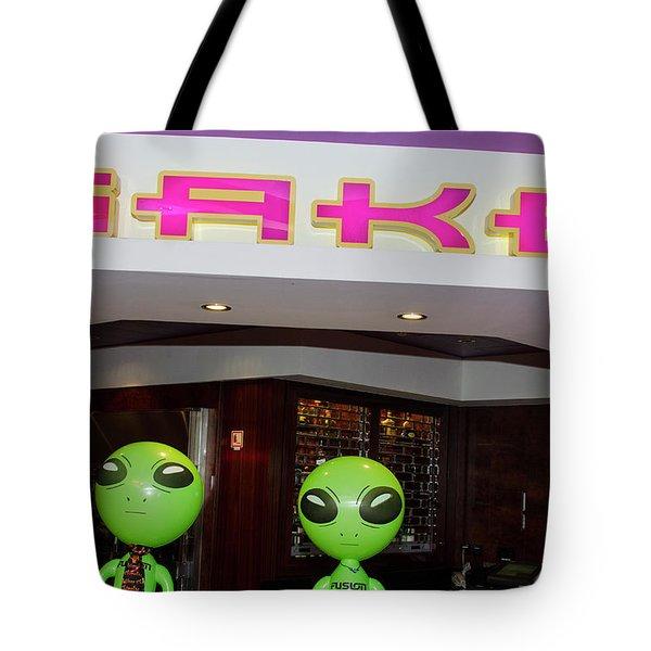 Thirsty Aliens Desire Sake Tote Bag