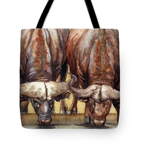 Thirsty Buffalo  Tote Bag by Margaret Stockdale