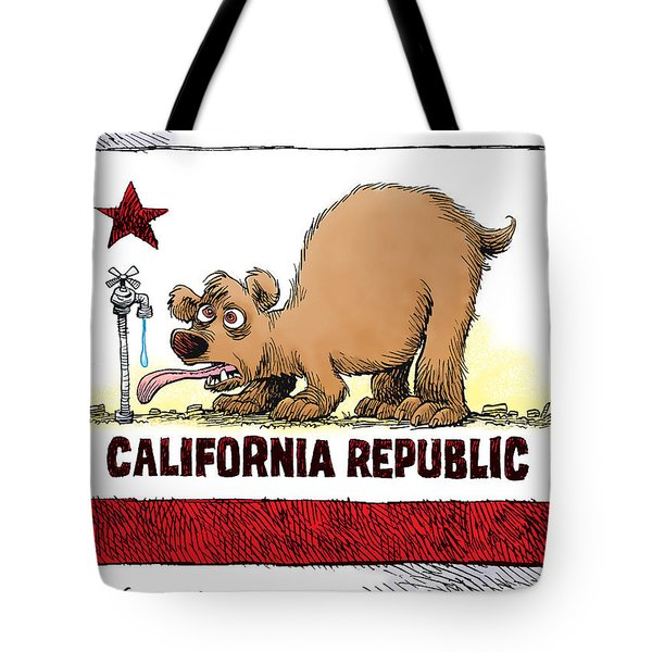Thirsty California Flag Tote Bag