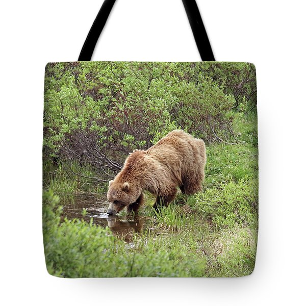 Thirsty Grizzly Tote Bag