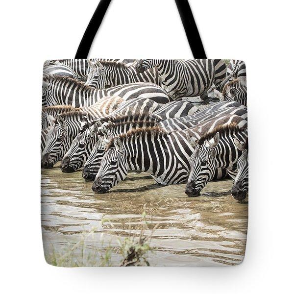 Thirsty Zebras Tote Bag