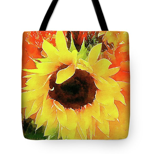This Ain't No Mellow Yellow Tote Bag by Michele Ross