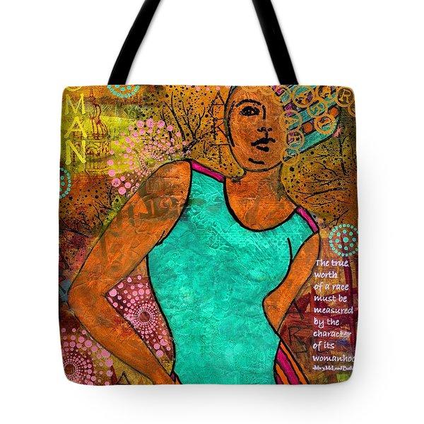 This Artist Speaks Truth Tote Bag by Angela L Walker
