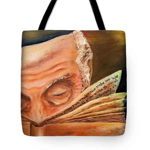 This Book Of The Law Shall Not Depart Out Of Thy Mouth Tote Bag by Itzhak Richter