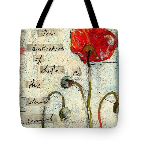 Tote Bag featuring the painting This Eternal Moment by Carrie Joy Byrnes