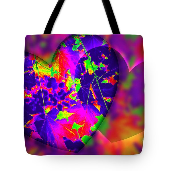 Tote Bag featuring the digital art This Hearts For You by Donna Bentley
