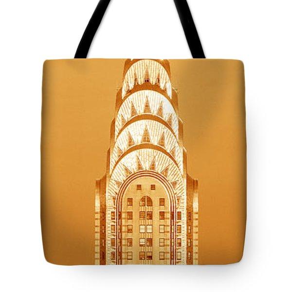Chrysler Building At Sunset Tote Bag