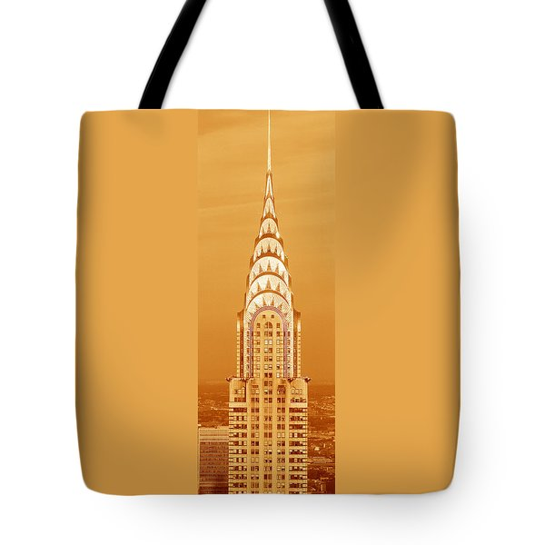 Chrysler Building At Sunset Tote Bag by Panoramic Images
