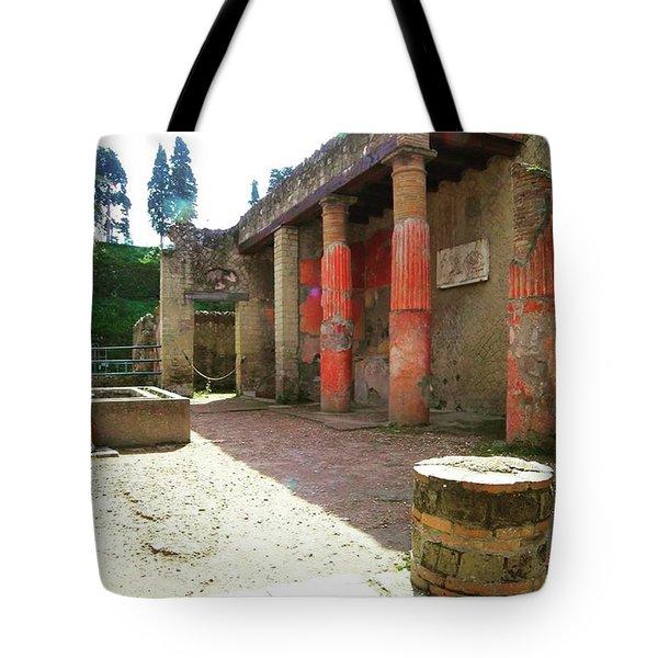Herculaneum Ruins Tote Bag by Eva Dobrikova