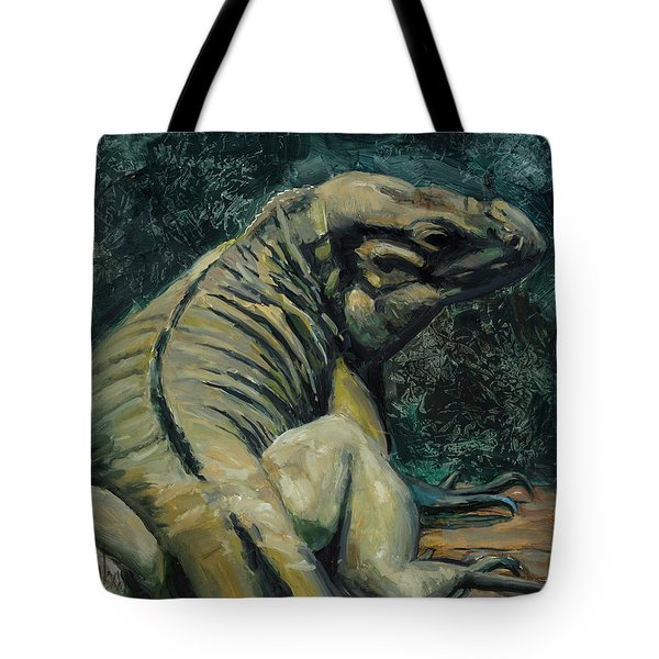Tote Bag featuring the painting This Is My Good Side by Billie Colson