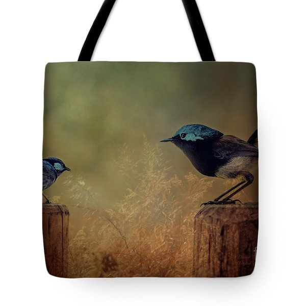 Tote Bag featuring the photograph This Is My Perch by Elaine Teague