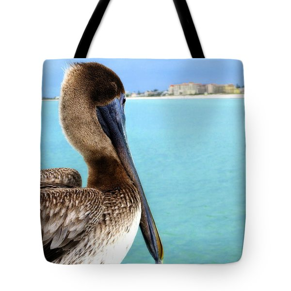 This Is My Town - Pelican At Clearwater Beach Florida  Tote Bag