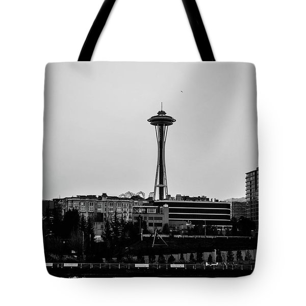 This Is Seattle Black And White Tote Bag